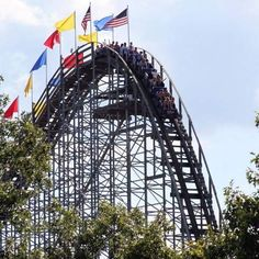 The Voyage wooden roller coaster at Holiday World & Splashin' Safari. About 70 miles Northwest of Louisville, this place has an amazing coaster coming in 2015 that takes it to the level of Six Flags. Also a great water park, free parking, free sunscreen, and free sodas all day.
