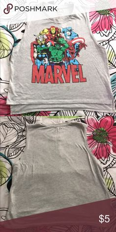 Marvel Tank Marvel Sleeveless tank.... size XL, juniors..... shows some signs of use.... smoke free Marvel Tops Tees - Short Sleeve