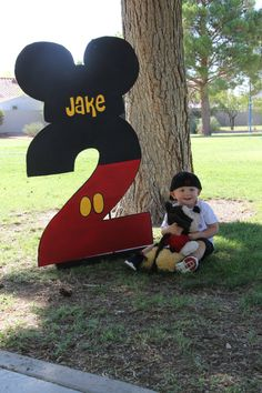 One Birthday Number Party Prop Mickey by PrettyPartiesndPaint,