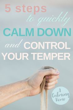 how to quickly calm down and control your temper