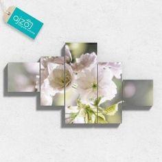 Obraz na płótnie pastelowe kwiaty w ogrodzie kaskada. #Obraz #płótno #kaskada #ogród #kwiaty #fotografia #sztuka