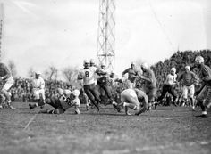 4. The first NFL game on Thanksgiving took place in 1934, when the Lions played the Chicago Bears. (Photo via Virtual Motor City: Detroit Lions play Chicago Bears, 1930s)