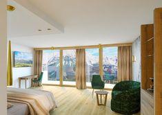Wellness Urlaub in Tirol - Panoramablick aus den Themensuiten - Ausstattung auf höchstem Niveau. Wilder Kaiser, Wellness, Windows, Ramen, Window