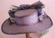 Hat  dollhouse miniature 112 scale van petalsandbrims op Etsy, $16.00
