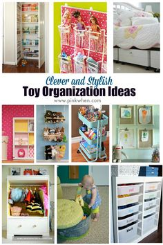 Some Clever and Stylish Toy Organization Ideas www.pinkwhen.com