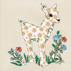 Claire Coles - vintage wallpapers embroidered and collaged.