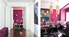 Doors, moulding, James Nares painting, herringbone floor | Interior Designer Amanda Nisbet enlivens a Park Avenue apartment - New York Cottages & Gardens - September 2012 - New York, NY