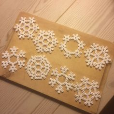 Snowflakes hama beads by anette_1911