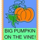 """""""BIG PUMPKIN ON THE VINE!"""" - HALLOWEEN GROUP GAME!  Add some """"moves"""" to your Halloween fun!  The Big Pumpkin meets a Scarecrow, a Black Cat, a Bouncy Bat, and a Spinning Spider, all in a GROUP GAME that encourages STORY SEQUENCING and DIRECTED MOVEMENT.  Character Templates and song notes to a 'familiar tune' are included.  Silly fun and nothing scary!  Start your day with rhythm and dancing, or end your day with a smile!  (8 pages) More 'treats' from Joyful Noises Express TpT! $"""