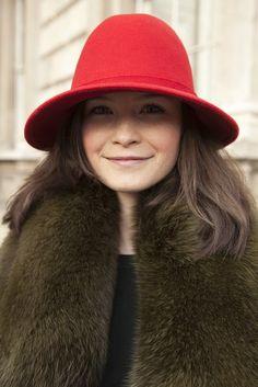 London Fashion Week Fall 2013 #streetstyle #LFW #fashionweek #hats