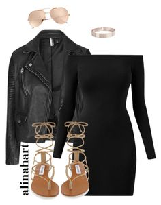 """""""$"""" by alinahartikainen ❤ liked on Polyvore featuring Topshop, Lele Sadoughi, Linda Farrow and Steve Madden"""
