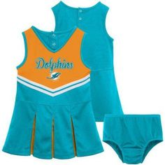 NFL Miami Dolphins Girls Cheerleader Set, Size: XS, Blue