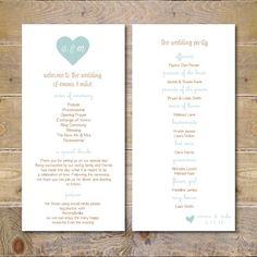Simple Elegant Program - Wedding Ceremony Programs, Black Wedding ...