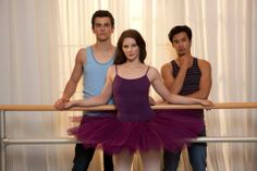 Thomas Lacey (Ben), Xenia Goodwin (Tara) and Jordan Rodrigues (Christian) in the Werner Film Production Dance Academy Series 3.