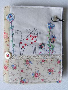 kitty needlecase by hens teeth, via Flickr