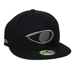 d6ce91279c0 TobyMac Eye On It design embroidered in silver colored thread on a black  snapback flat billed hat.