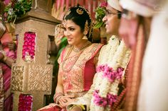 Pink saree , gold border, pink blouse , two chains , maateelu