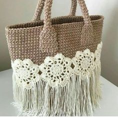Marvelous Crochet A Shell Stitch Purse Bag Ideas. Wonderful Crochet A Shell Stitch Purse Bag Ideas. Free Crochet Bag, Crochet Shell Stitch, Diy Crochet, Crochet Bags, Crochet Handbags, Crochet Purses, Handbag Patterns, Macrame Bag, Fabric Yarn