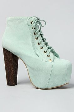 Jeffrey Campbell The Lita Shoe in Mint Suede, i wanna ware these with my polka dotted pants