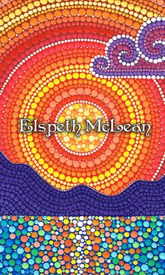 Elspeth Mclean creates art and beauty one dot at a time.  Amazing art work!
