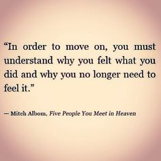 move on:
