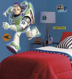 Buzz Toy Story Wall Murals Stickers for Kids Bedroom Wallpaper Design Ideas