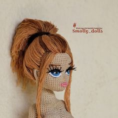 Crochet Amigurumi Free Patterns, Crochet Dolls, Crochet Hats, Doll Making Tutorials, Amigurumi Doll, Fabric Dolls, Doll Face, Miniatures, Handmade