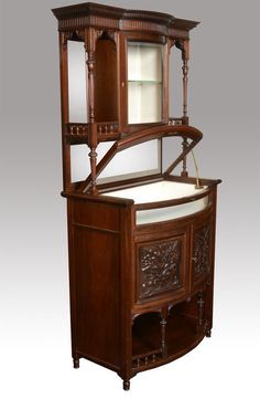 Edwardian Mahogany Bijouterie Display Cabinet - Antiques Atlas