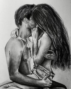Best Couple Drawings Images For Loving Couple - Page 2 of 4 - Disqora Couple Drawing Images, Couple Drawings, Art Drawings, Sexy Drawings, Couple Art, Love Couple, Couple Painting, Photo Manga, Love Images