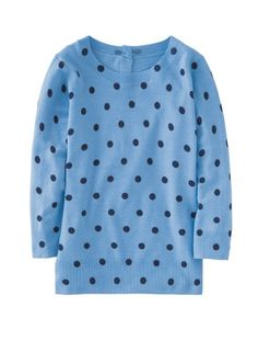 Boden sweater. Love the black on blue combination.
