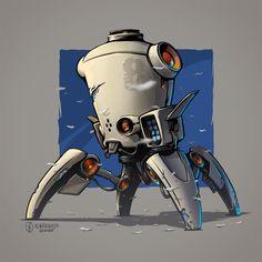 March Of Robots 2015 Bot 01, Andrey Pridybaylo on ArtStation at https://www.artstation.com/artwork/yqkZ5