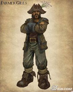"Fable Fable 2 concept art ""Farmer Giles"" #fantasy - See more Character Designs at Stylendesigns.com!"