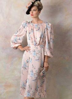 V9295 | Misses' Dress | Vogue Patterns Structured Dress, Dress Making Patterns, Vogue Sewing Patterns, Miss Dress, 1940s Fashion, Vintage Fashion, Vintage Vogue, Vintage Sewing, Pattern Fashion
