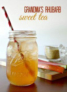 Grandma's Iced Rhubarb Tea Recipe