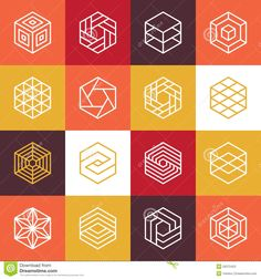 Vector Linear Hexagon Logos And Design Elements - Download From Over 36 Million High Quality Stock Photos, Images, Vectors. Sign up for FREE today. Image: 50372423