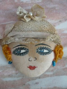 Flapper Hand Painted Face Powder Puff Vanity Boudoir Accessory Supply To… Flapper Style, 1920s Flapper, Flapper Girls, Powder Puff, Face Powder, Boudoir, Vintage Buttons, Vintage Prints, Doll Face
