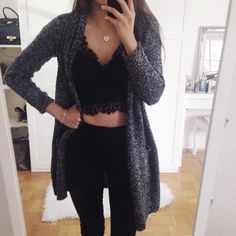 15 outfits that you can wear in black in spring - Outfits 4 - outfits moda masculina outfits casual outfits Work Tumblr Outfits, Dressy Outfits, Mode Outfits, Grunge Outfits, Fall Outfits, Black Outfits, Fashionable Outfits, Stylish Dresses, Stylish Outfits