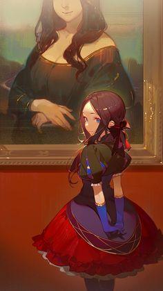 HD wallpaper: anime girls, Mona Lisa, Leonardo Da Vinci (FGO), Fate/Grand Order