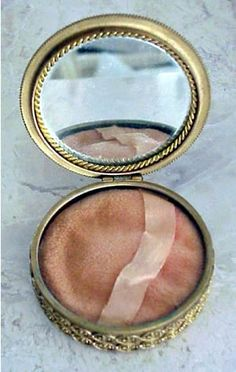 Something old? check out this antique powder compact, guaranteed to be there for your touch-ups.