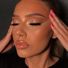 ✔ Makeup Looks Full Face Beauty Bronze Makeup Look, Golden Makeup, Makeup Eye Looks, Full Face Makeup, Cute Makeup, Gorgeous Makeup, Flawless Makeup, Skin Makeup, Beauty Makeup