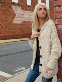 Oversized Ivory Knit Sweater   Valley Fly