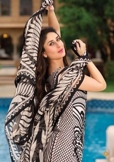 Kareena Kapoor for Faraz Manan's Crescent Lawn Collection | PINKVILLA