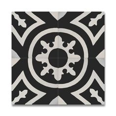 Ozod Black and White Handmade Cement/ Granite 8 x 8-inch Floor and Wall Tile (Pack of 12) (Morocco)