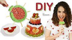 DIY COMIDINHAS FOFAS DE MELANCIA: bolo da fruta, flocos de arroz e gelatina | Paula Stephânia - YouTube