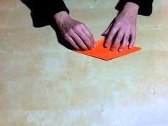 Elaboración de una grulla de papel. Origami