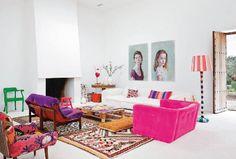 Ibiza, una casa dai colori vivaci