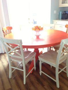 Sunny & Fresh Orange table!