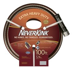 NeverKink 5/8-Inch by 100-Feet Series 3000 Extra Heavy Duty Garden Hose -- Tried it! Love it! Click the image. : Patio plants