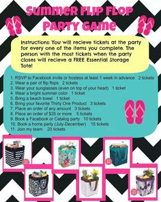 Doesn't this sound like fun!?!  Contact me to book your July Party! mythirtyone.com/453280