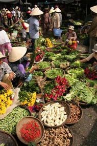 open market in Laos